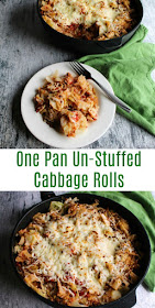 Get the flavor of cabbage rolls without the work! Un-stuffed cabbage casserole is a quick and easy one pan dinner that makes cabbage roll goodness possible on a weeknight.