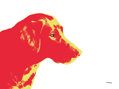Red Dog Dogs Animal Print Labrador Retriever