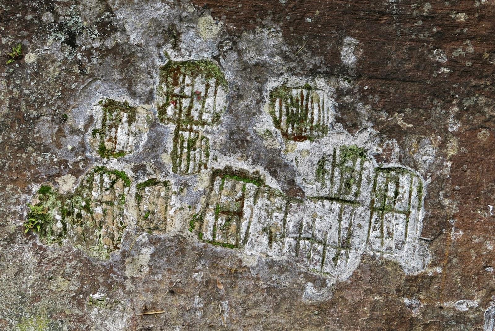 Inscrições rupestres, em Urubici