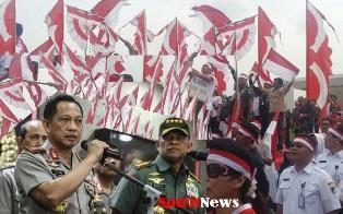 Panglima TNI-Kapolri dan Tokoh Agama,Apel Nusantara Bersatu di Monas