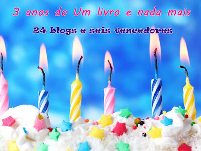 SORTEIO #23 - PROMOÇÃO 3 ANOS DO BLOG UM LIVRO E NADA MAIS