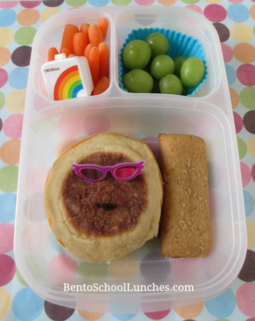 English muffin bento lunch