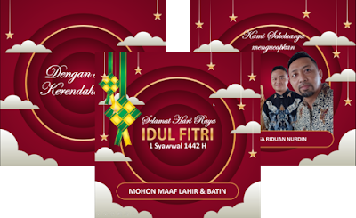 Template Video Ucapan Idul Fitri 1442 H