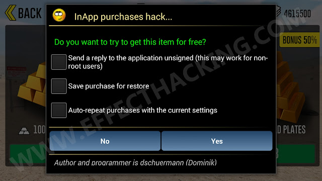 InApp purchases hack Screenshot