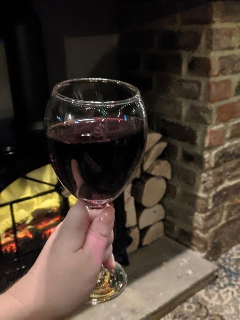 The Mill House Birtley Menu & Review  - red wine by the fire