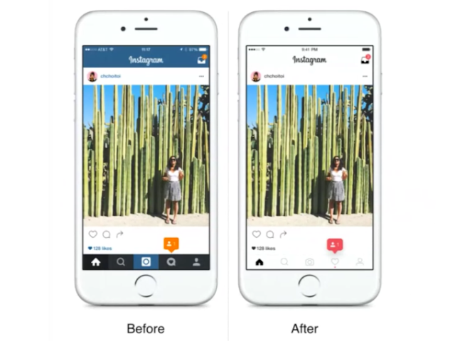 Nowy kontra stary layout Instagrama