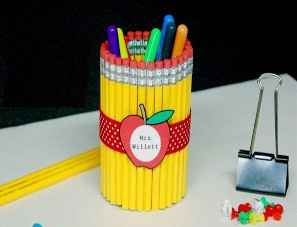 Öğretmene El Yapımı Hediye - Kalem Kalemlik