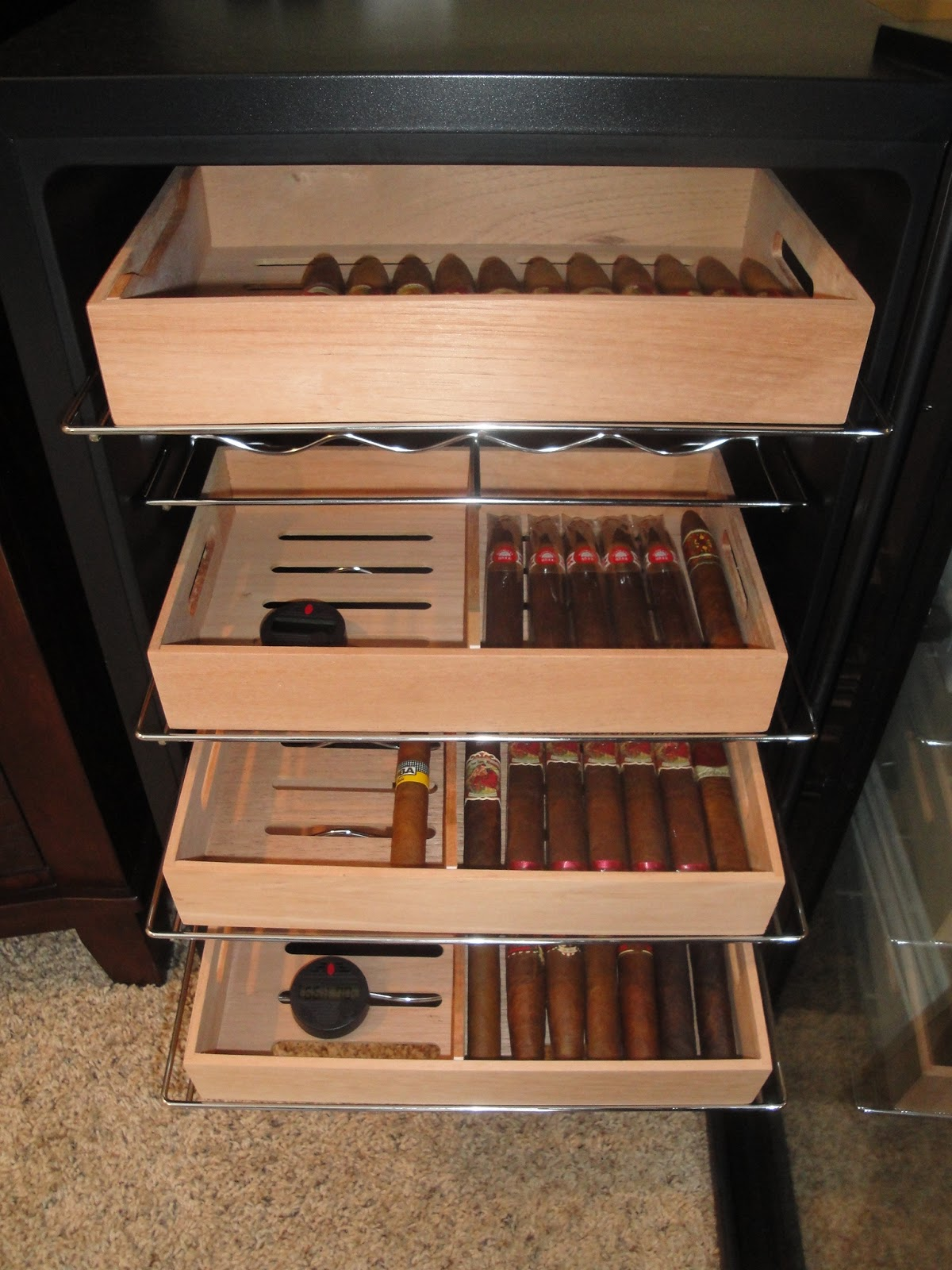 Wineador Wine Cooler To Cigar Humidor Conversion The Perfect Man Cave