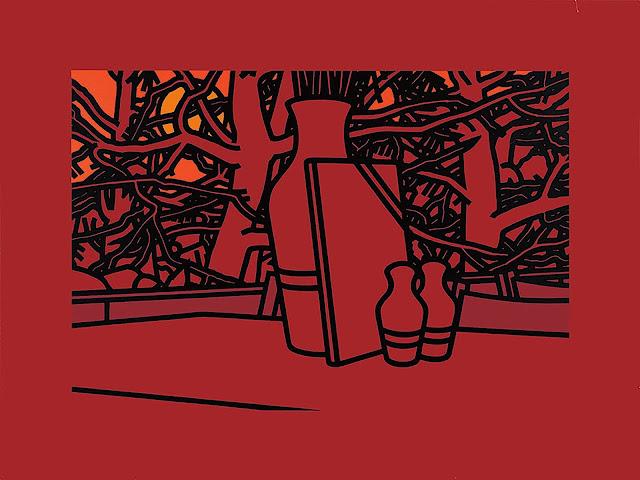 Patrick Caulfield art in reds