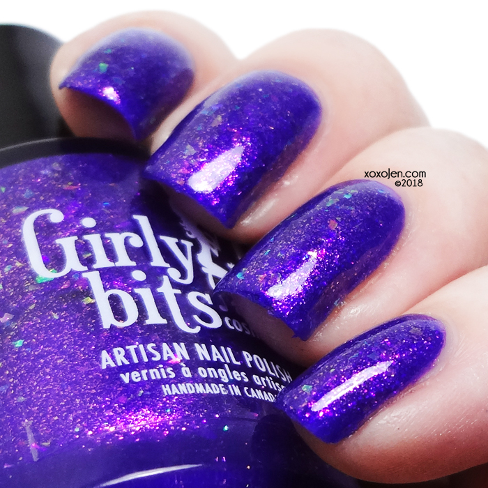 xoxoJen's swatch of Girly Bits Grape Escape