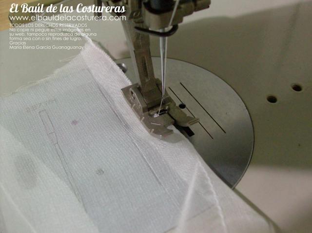 Dobladillo repulgo con máquina de coser casera zigzag