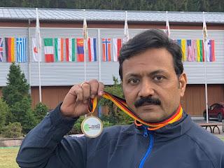 DCP Sanjiv Yadav wins Bronze medal in Germany world masters shooting