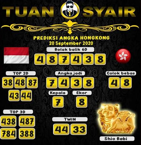 Prediksi Tuan Syair HK Minggu 20 September 2020