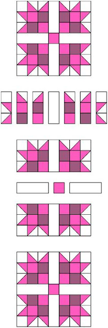 Quilt Ladies 52 Weeks of Quilt Pattern Blocks, this is Pink Magnolia Quilt Block