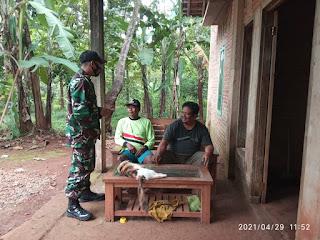 Dengan Berpatroli Sabang Wilayah Babinsa Optimalkan Edukasi Prokes