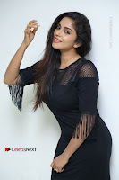Telugu Actress Karunya Chowdary Latest Stills in Black Short Dress at Edo Prema Lokam Audio Launch .COM 0079.JPG