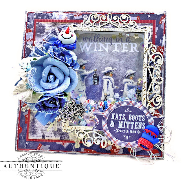 Authentique Wintery Shaker Card by Kathy Clement Kathy by Design Photo 01