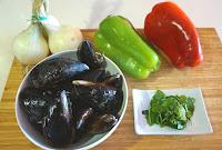 Mejillones a la vinagreta. Receta fresca y fácil.