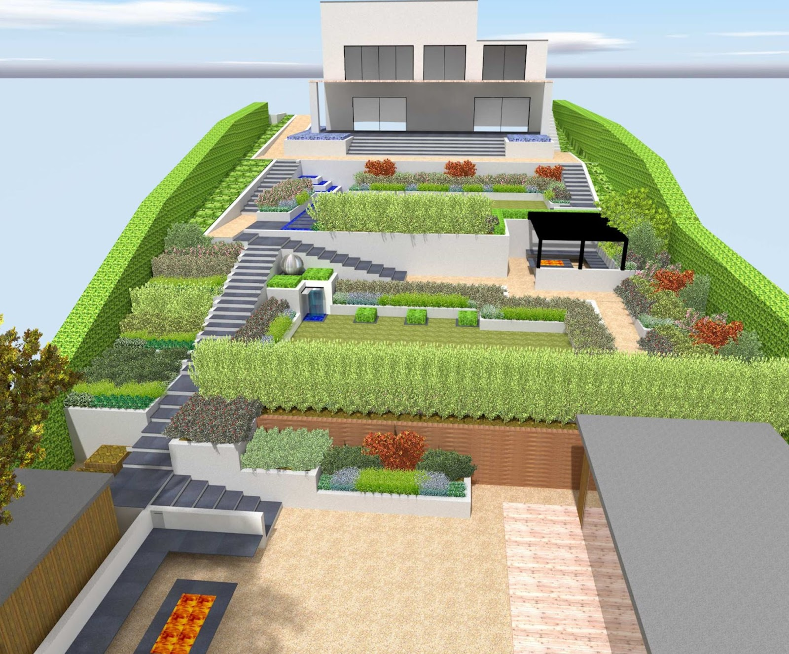 A Life Designing: How to Design a Sloping Garden on Garden Ideas For Sloping Gardens id=52460