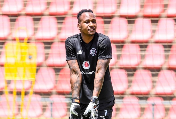 Orlando Pirates goalkeeper Brilliant Khuzwayo