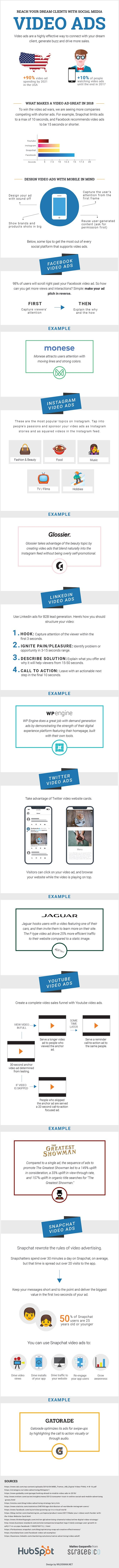 How to Connect With Your Dream Clients Through Social Media Video Ads - infographic