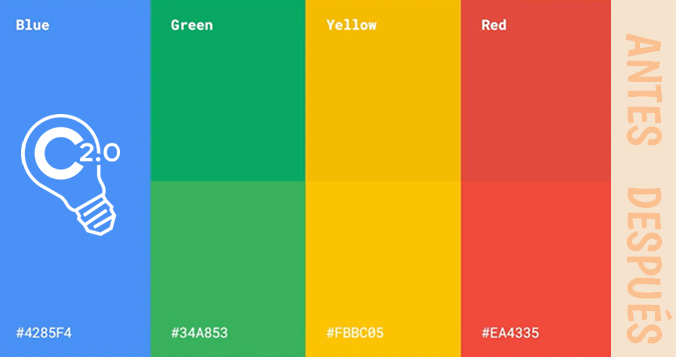 Colores del logo de Google