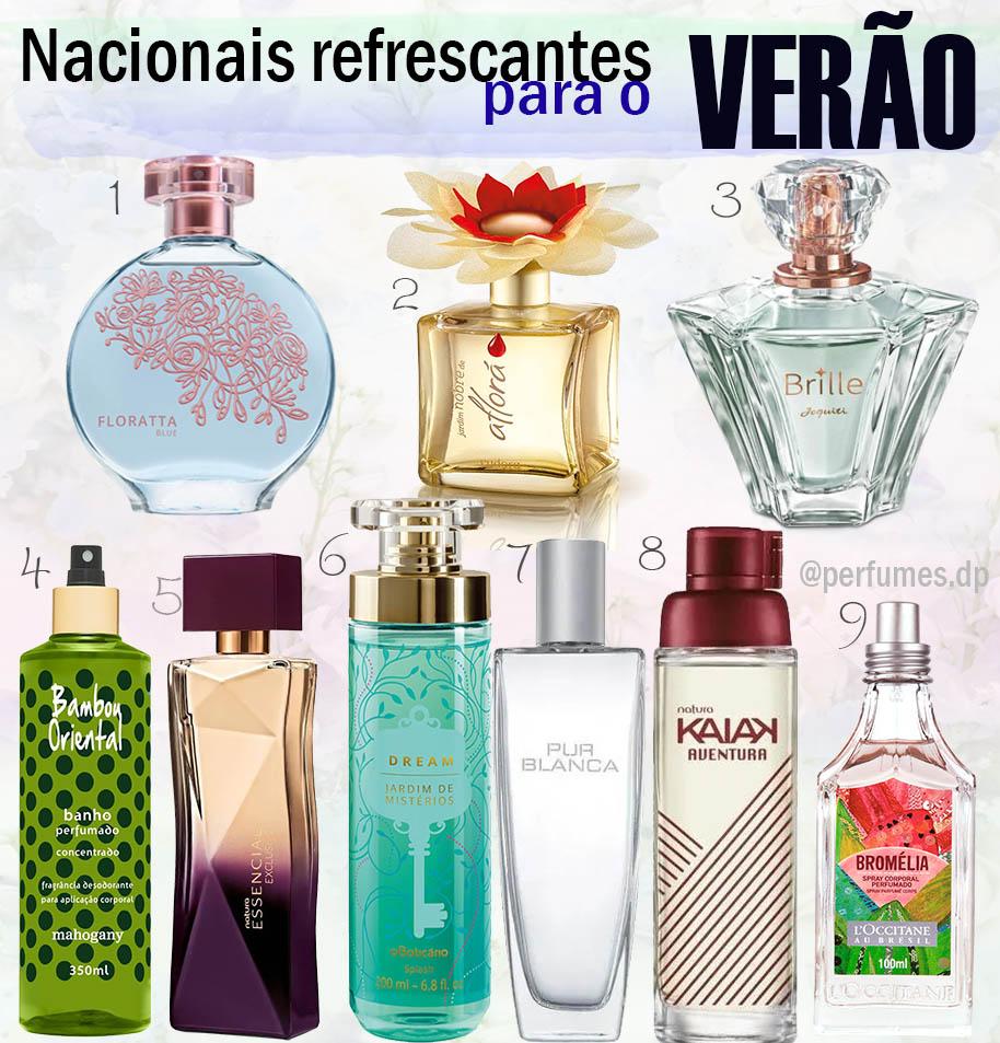 Perfume nacional fresco pro verão