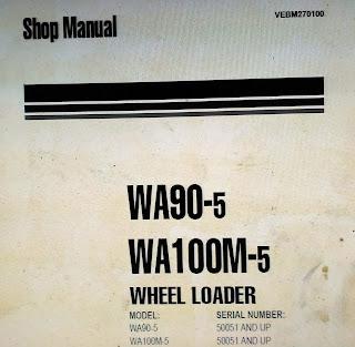 Shop Manual Komatsu WA90-5 WA100M-5