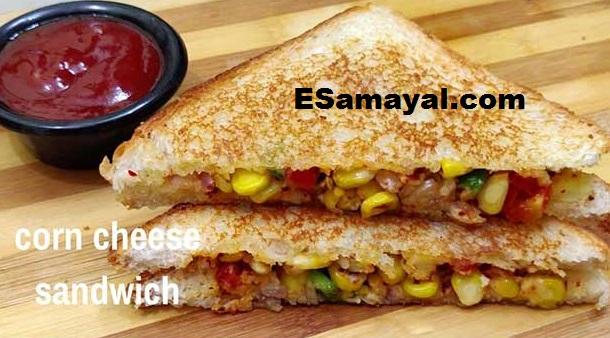 கார்ன் சீஸ் சாண்ட்விச் செய்வது | Making Corn Cheese Sandwich !