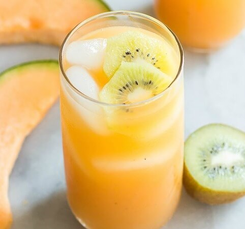 CANTALOUPE MELON AND KIWI AGUA FRESCA #drinks #hotsummer