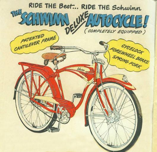 Early Schwinn Bicycle Illustration