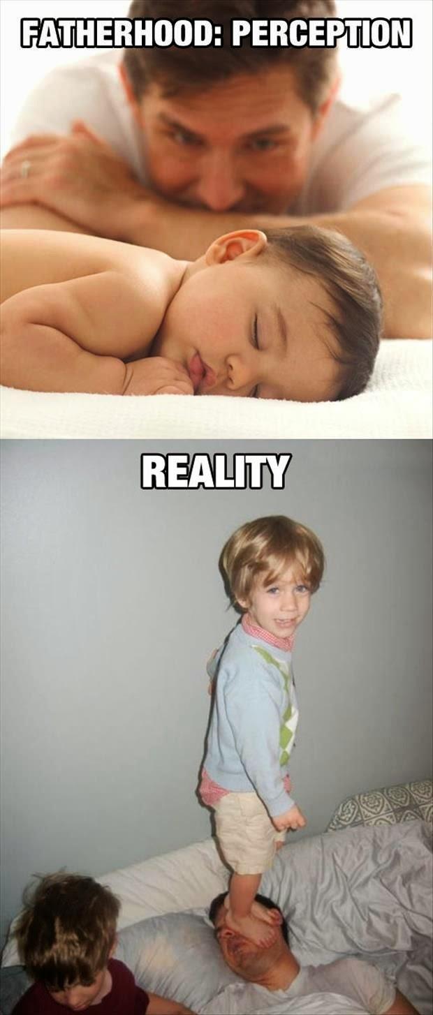 Funny Fatherhood Perception vs Reality Joke Picture