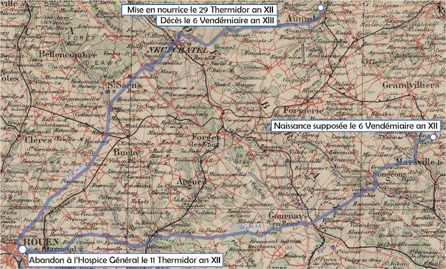 Carte Rouen-Beauvais