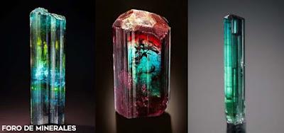 Turmalinas multicolores de brasil - foro de minerales