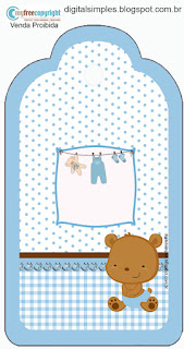Baby Boy Bear: Free Printable Candy Bar Labels.