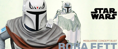 San Diego Comic-Con 2020 Exclusive Star Wars Boba Fett McQuarrie Concept Edition 16 Scale Bust by Gentle Giant