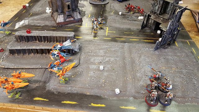 warhammer 40000 aeldari eldar windrider shining spear wild rider jetbike army battle report grey knights