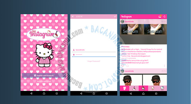 download Instagram Clone Mod Tema Pink Hellokitty For Android Terbaru