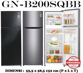 GN-B200SQBB kulka lg 2 pintu