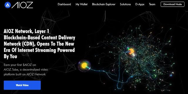 Screenshot Website AIOZ Network (AIOZ)
