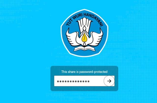 Masukkan Password CBT Online Proktor dan Teknisi Tahun 2020