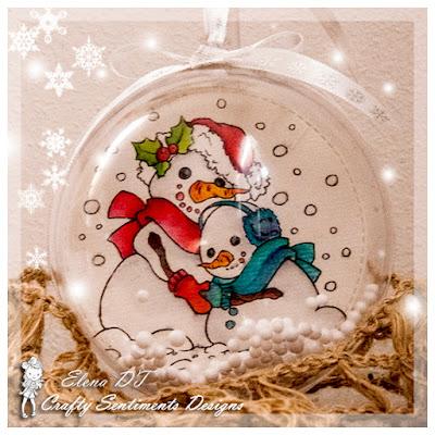 SNOWMAN HUG by creativEle for crafty sentiments design handmade