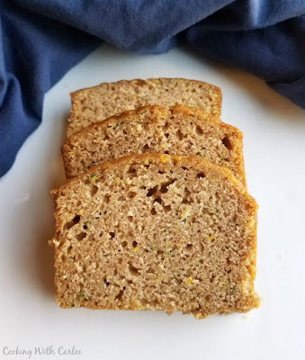 slices of spiced zucchini quick bread