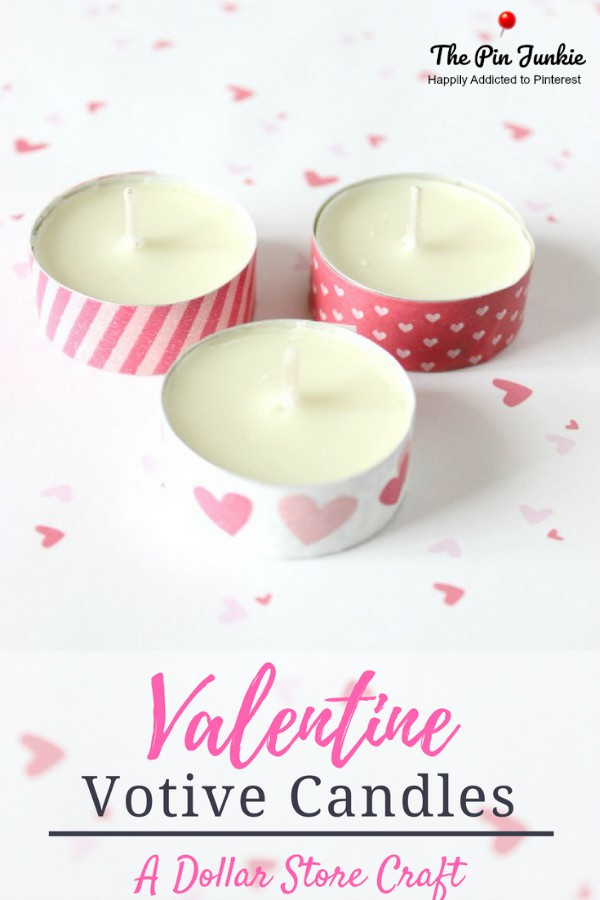 Valentine's Day Washi Tape Votive Candles