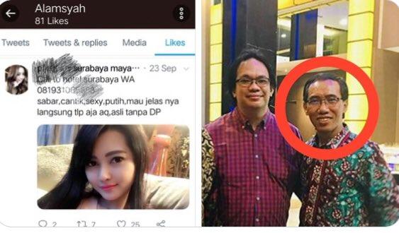 Twitter atas Namanya <i>Ngelike</i> Akun Porno, Wakil Rektor UIN Raden Intan Lampung Membantah