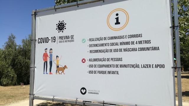 Placa Parque da Quinta - COVID 19