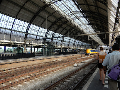 アムステルダムの駅の風景
