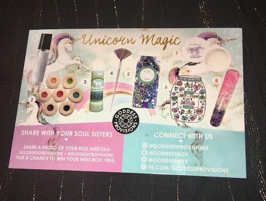 Goddess Provisions (August Unicorn Magic Review) Subscription Box