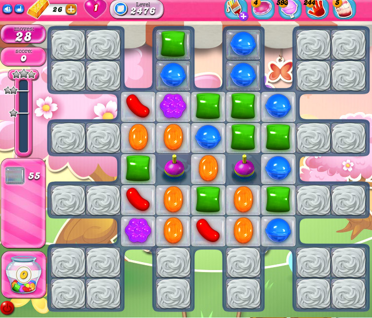 Candy Crush Saga level 2476