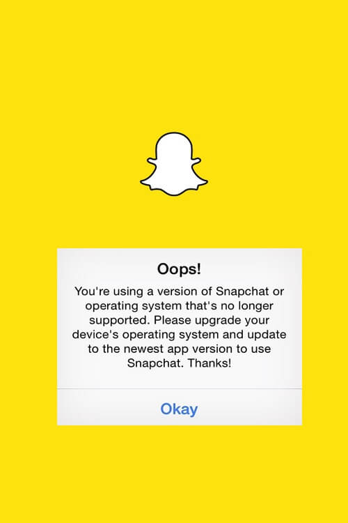 Snapchat is now forcing jailbreak users to upgrade to the latest